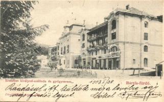 Bártfafürdő, Bardejovské Kúpele, Bardiov; Erzsébet királyné szálloda és gyógyterem. Divald Adolf / hotel and spa (Rb)