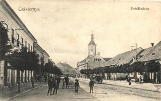 Csáktornya, Cakovec; Petőfi utca, kiadja Herrnstein és Gut / street (ázott / wet damage)