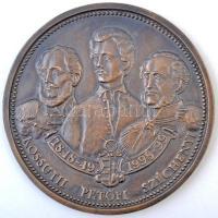 1989-99. A szabadságharc 150. évfordulója - Bem tábornok / Kossuth Petőfi Széchenyi Br plakett (138mm) sorszámmal a peremén (N013) T:2