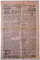 1919 Debreceni Független Újság decemberi száma háborús hírekkel, töredék