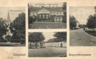 Sopronhorpács, Gróf Széchenyi Dénes kastélya, Római katolikus templom, utcaképek