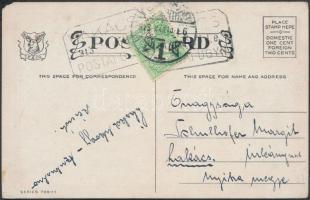 1913 Képeslap Turul 5f bérmentesítéssel LAKÁCS postaügynökségi bélyegzéssel