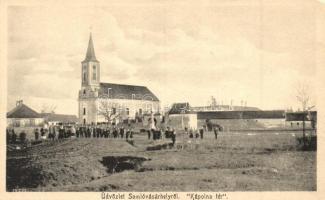 Somlóvásárhely, Kápolna tér, templom. kiadja Siklós Géza fényképész