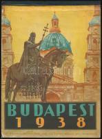 1938 Budapest asztali naptár, német nyelven, képekkel illusztrált