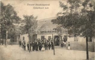 Ráckeresztúr, Keresztény Fogyasztási Szövetkezeti bolt, utcakép (r)