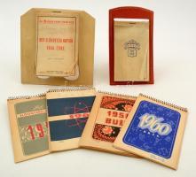 1948-1963 Kisméretű asztali naptárak, 6 db