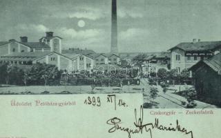 1899 Petőháza, Cukorgyár, este (EM)