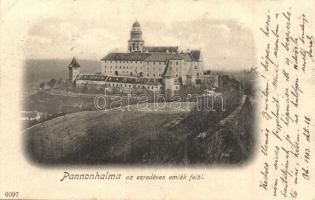 Pannonhalma, Az ezredéves emlék felől (EK)