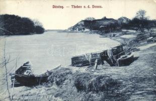 Dévény, Theben, Devín; Duna-part részlet, G. L. P. kiadása / riverside (EK)