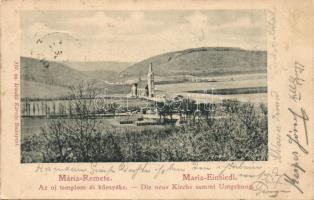 Budapest II. Máriaremete, Új templom és környéke. Divald Károly