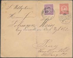 1916 Levél Károly 15f és Zita 10f bérmentesítéssel IV. KÁROLY KIRÁLY KORONÁZÁSA NAPJÁN alkalmi bélyegzéssel Budapest - Prága