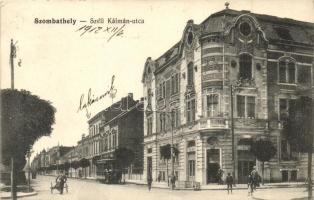 Szombathely, Széll Kálmán utca, villamos, Fürst József üzlete (fa)