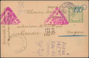 1918 Hadifogoly levelezőlap bécsi cenzúrával K.u.K. EP / BELGRAD + LAGERPOST / NEZSIDER
