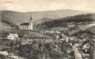 Prakfalva, Prakovce; vasgyár, vasútállomás, kiadja Feitzinger Ede No. 439 / iron factory, railway station (EK)