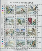 1990 Karácsony: áttelelő madarak kisív Mi 501-512