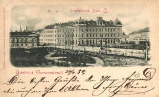 1899 Temesvár, Timisoara; Józsefvárosi Küttl tér / square (EK)