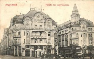 Nagyvárad, Orradea; Fekete Sas Nagyszálloda, Grosz üzlete / hotel, shop