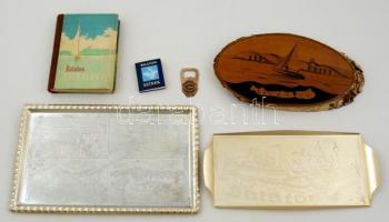 Balatonnal kapcsolatos retró tárgyak, könyvek, összesen: 6 db