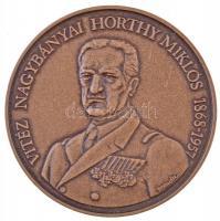 Bognár György (1944-) 1993. Vitéz Nagybányai Horthy Miklós / Itthon hazai földben Br emlékérem (42,5mm) T:1