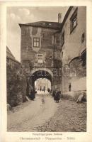 Nagyszeben, Hermannstadt, Sibiu; Utca, Városház / Pempflingergasse, Rathaus / street, town hall