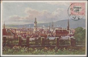 1922 Képeslap Hivatalos 100f bérmentesítéssel SOPRON - Berlin