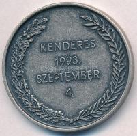 Berán Lajos (1882-1943) 1993. Kenderes 1993. szeptember 4. ezüstözött fém emlékérem T:2