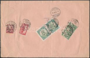 1924 Ajánlott céges levél 12.500K vegyes bérmentesítéssel BUDAPEST Svájcba küldve