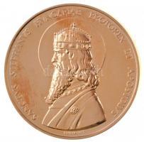 Madarassy Walter (1909-1994) 1993. SANCTVS STEPHANVS HVNGARIAE PROTOREX ET APOSTOLVS / István királynak szíve gazdagságát - Budapest 1993. aranyozott fém emlékérem (40mm) T:2 (PP)