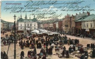 Máramarossziget, Sighetu Marmatiei; Fő tér, piac / main square, market