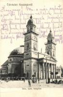 Szatmárnémeti, Satu Mare; Római katolikus templom, kiadja Lövy M. / church (fa)