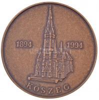 1994. Kőszeg 1894-1994 / Jézus Szíve Templom felszentelésének 100 éves jubileuma emlékére 1994. szeptember 25 Br emlékérem (42,5mm) T:1-