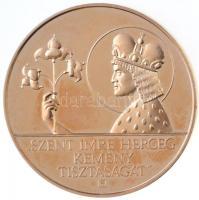 Fülöp Zoltán (1951-) DN Szent Imre herceg kemény tisztaságát / Szent Imre ereklyetartó Aachen aranyozott Br emlékérem (40mm) T:2 (PP)