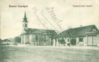 Csávoly, Templom utca, Ostheimer Márton kiadása (EK)