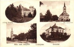 Uraiújfalu, Ajkay kastély, orvoslak, Evangélikus és Római katolikus templom