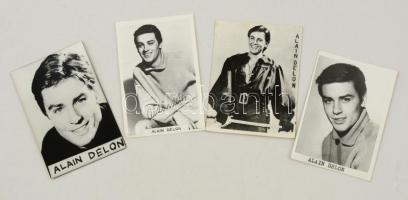 cca 1960 Alain Delon (1935-) fotók, 4 db, 9x6 cm.