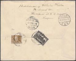 1930 Ajánlott levél Pengő-fillér 50f és Horthy 32f bérmentesítéssel BUDAPEST - KÖLN