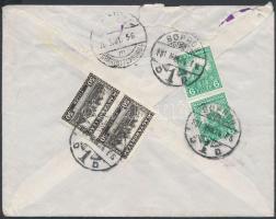 1931 Expressz levél Pengő-fillér 6f pár és 50f pár bérmentesítéssel SOPRON - Berlin