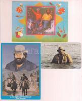 3 db Bud Spencer és Terence Hill film kiadványok, jó állapotban, 7x10 cm és 15x10 cm.