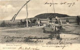 Szeged-Felsőtanya, Szatymazi domb, Tóth Molnár Ferenc eredeti festménye után; Gerő S. kiadása (Rb)