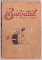 1951 Bábjáték műsorfüzet 4. Összeállította Népművészeti Intézet. Bp., Művelt Nép Könyvkiadó, 47 p. Kissé viseltes papírkötés, intézményi bélyegzővel.