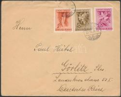 1939 Levél PAX-TING sor tarifahelyes bérmentesítéssel LOSONC Németországba küldve