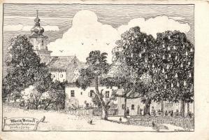16 db RÉGI burgenlandi lap, vegyes minőség / 16 pre-1945 town-view postcards from Burgenland, mixed quality