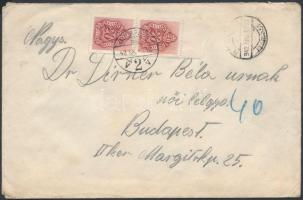 1942 Levél 2 x 20f portó bélyeggel PÉTERVÁRAD - BUDAPEST