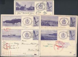 1933 5 db 16f díjjegyes képes levelezőlap (látképekkel) (~6.000)