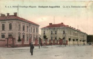 Budapest XIII. Angyalföld, Lehel utca, K.u.K. Cs. és kir. katonai élelmezési raktár, M. T. és F. V. Koch és Pór kiadása (EK)