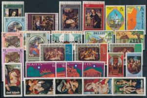 Karácsony motívum 53 db bélyeg 2 stecklapon