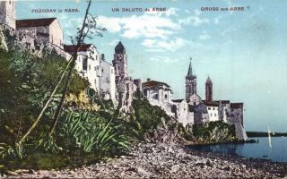 Rab, Arbe - 11 db régi képeslap / 11 pre-1945 postcards