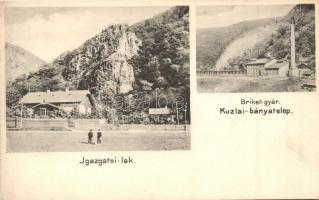 Kozlatelep, Berszászka; Cutmann testvérek kőszénbányája és brikettgyára, Igazgatói-lak, Dajkovits J. kiadása / coal mine and briquette factory (EK)