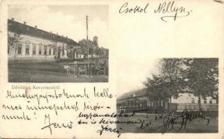 Kevermes, Községháza, népiskola (kopott sarkak / worn corners)