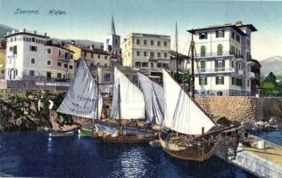 Lovran, Lovrana; Hafen (cut)